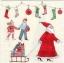 แนวภาพเทศกาล คริสมาสต์กับแซนต้าครอส มาพร้อมของขวัญกับเด็กน้อย บนพื้นครีม เป็นภาพแนวยาว กระดาษแนพกิ้นสำหรับทำงาน เดคูพาจ Decoupage Paper Napkins ขนาด 33X33cm thumbnail 1