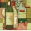 แนวภาพอาหาร ลายเส้นลงสีขวดไวน์กับผลองุ่น เป็นภาพ 4 บล๊อค กระดาษแนพกิ้นสำหรับทำงาน เดคูพาจ Decoupage Paper Napkins ขนาด 33X33cm thumbnail 1