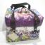 กล่องเก็บของแบบมีหูหิ้ว ขนาดเล็ก ลายดอกไม้ และกราฟฟิค โทนม่วงๆ thumbnail 1