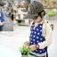 cisi เสื้อยืดเด็กคอกลมแขนยาว สี น้ำเงินลายดาว เก๋ น่ารัก สไตล์เกาหลี thumbnail 1
