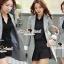Seoul Secret Autumn Winter Gray Outer Suit เสื้อสูททรงเรียบหรู เนื้อผ้าคอตตอนสีเทาขึ้นทรงสวยอย่างดีค่ะ สีสวยดูคลาสสิก อินเทรน mix & match ได้หลายแบบเลยค่ะ งานตัดเย็บสวยใส่ทำงานเหมาะมากค่ะ thumbnail 8