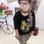 Huanzhu kids ชุดเซตเด็ก 3 ชิ้น เสื้อแขนยาวสีดำ สกีนรูปเสือ +กางเกงลายเสือ + ผ้าพันคอน่ารักสไตล์เกาหลี เก๋มากค่ะ thumbnail 3