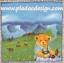 กระดาษสาพิมพ์ลาย สำหรับทำงาน เดคูพาจ Decoupage แนวภาพ หมี Teddy หมีหนุ่มนั่งทานอาหาร บนทุ่งหญ้าเขียว วิวภูเขาโทนฟ้า thumbnail 1
