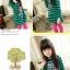 ชุดเดรสแฟชั่นเด็ก ลายริ้วสีเขียว-ดำ น่ารักสไตล์เกาหลี thumbnail 2