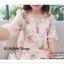 VS024 ชุดเดรสสั้น สีชมพูอ่อน คอกลม ผ้าพิมพ์ลายดอกไม้ สวยหวาน แขนสั้น มีผ้าผูกโบว์ที่แขนเสื้อ เก๋มากคะ สินค้าเหมือนแบบ 100% thumbnail 9