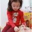 Huanzhu kids ชุดแฟชั่นเด็ก 2 ชิ้น เสื้อสีแดง ลายแมว+ กางเกงลายสก็อต น่ารักสไตล์เกาหลี thumbnail 2