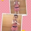 Huanzhu kids ชุดเดรสเด็กหญิง ลายริ้ว สีแดง-ขาว น่ารัก สไตล์เกาหลี ขนาด 130,140 thumbnail 3