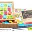 ของเล่นเสริมพัฒนาการ กล่องกระดานไม้ตัวต่อแม่เหล็ก thumbnail 3