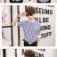 เสื้อเชิ๊ต ลายตรง แฟชั่นเกาหลี เสื้อผ้าทอม[Pre-Order] thumbnail 7