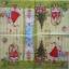 แนวภาพเทศกาล แซนต้าครอสกับเหล่าของขวัญ ภาพโทนสีเขียว เป็นกระดาษลายแนวยาว กระดาษแนพกิ้นสำหรับทำงาน เดคูพาจ Decoupage Paper Napkins ขนาด 33X33cm thumbnail 2