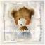 กระดาษสาพิมพ์ลาย rice paper เป็น กระดาษสา สำหรับทำงานศิลปะ เดคูพาจ Decoupage แนวภาพ น้องหมี เท็ดดี้ แบร์ Teddy Bear ขนยาวสีน้ำตาล นั่งทำหน้าน่ารักทักทาย (pladao design) thumbnail 1