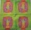 แนวภาพศิลปะ สัญลักษณ์เทพีเสรีภาพ ในกรอบสีชมพู ภาพโทนสีเขียว เป็นภาพ 4 บล๊อค กระดาษแนพกิ้นสำหรับทำงาน เดคูพาจ Decoupage Paper Napkins ขนาด 33X33cm thumbnail 2