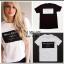 เสื้อยืดตัวใหญ่ สกรีนลาย ballinciaga harem t-shirt ผ้าคอตตอนเนื้อดีใสสบายค่ะ มา 2 สี ขาวและดำ thumbnail 7