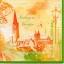 แนวภาพทิวทัศน์ ภาพวาดลายเส้นโบสท์ Freiburg im Breisgau บนพื้นสีน้ำสีเหลืองขอบเขียว เป็นภาพแนวยาว กระดาษแนพกิ้นสำหรับทำงาน เดคูพาจ Decoupage Paper Napkins ขนาด 33X33cm thumbnail 1
