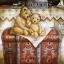 กระดาษสาพิมพ์ลาย สำหรับทำงาน เดคูพาจ Decoupage Rice Paper แนวภาพ Teddy bear หมี เท็ดดี้ แบร์ นั่งบนกล่องใส่ของ ปลาดาว ดีไซน์ thumbnail 1