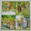 แนวภาพการ์ตูน ครอบครัวกระต่าย ภาพโทนสีเชรบง เป็นภาพ 4 บล๊อค ลายไม่ซ้ำ กระดาษแนพกิ้นสำหรับทำงาน เดคูพาจ Decoupage Paper Napkins ขนาด 33X33cm thumbnail 2