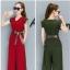 ชุดสูทกางเกงคู่ เสื้อแขวนกุด คอวีแฟชั่นเกาหลี thumbnail 1