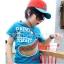 HOTPET เสื้อยืดคอกลมนำเข้า สีฟ้า ลาย Hot dog น่ารัก แนวๆสไตล์เกาหลีจร้า thumbnail 1