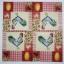 แนวภาพอาหาร ลายภาพแต่งลายเล็กๆ ไก่ ไข่ ลายผ้า ภาพโทนสีครีม เป็นภาพ 4 บล๊อค กระดาษแนพกิ้นสำหรับทำงาน เดคูพาจ Decoupage Paper Napkins ขนาด 33X33cm thumbnail 2