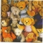 แนวภาพตุ๊กตา กองทัพตุ๊กตาหมี กระดาษแนพกิ้นสำหรับทำงาน เดคูพาจ Decoupage Paper Napkins เป็นภาพเต็มแผ่น ขนาด 33X33cm thumbnail 1