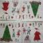 แนวภาพเทศกาล คริสมาสต์กับแซนต้าครอส มาพร้อมของขวัญกับเด็กน้อย บนพื้นครีม เป็นภาพแนวยาว กระดาษแนพกิ้นสำหรับทำงาน เดคูพาจ Decoupage Paper Napkins ขนาด 33X33cm thumbnail 2