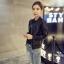 เสื้อคลุมแขวนยาวแจ็คเก็ตหนัง PU แฟชั่นเกาหลี JK0002 thumbnail 3